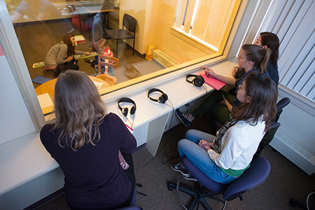 Families, clinical instructors and students can observe sessions through the one-way mirror
